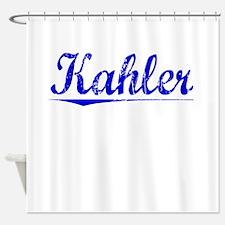 Kahler, Blue, Aged Shower Curtain