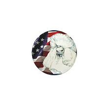 Poodle USA Flag Mini Button