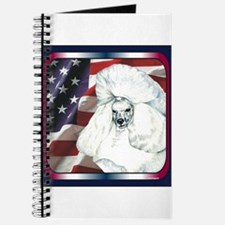 Poodle USA Flag Journal