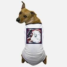 Poodle USA Flag Dog T-Shirt