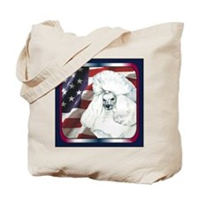 Poodle USA Flag Tote Bag