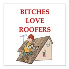 "roofer Square Car Magnet 3"" x 3"""