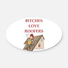 roofer Oval Car Magnet