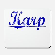 Karp, Blue, Aged Mousepad