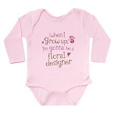 Future Floral Designer Long Sleeve Infant Bodysuit