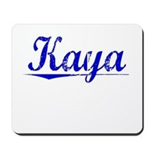 Kaya, Blue, Aged Mousepad