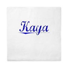 Kaya, Blue, Aged Queen Duvet
