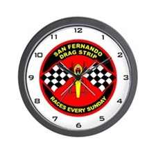 San Fernando Drag Strip Wall Clock