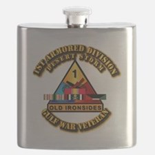 Army - DS - 1st AR Div Flask