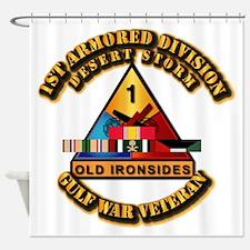 Army - DS - 1st AR Div Shower Curtain