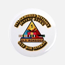 """Army - DS - 1st AR Div 3.5"""" Button (100 pack)"""