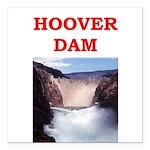 hoover dam Square Car Magnet 3
