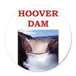 hoover dam Round Car Magnet
