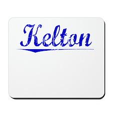 Kelton, Blue, Aged Mousepad