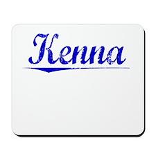 Kenna, Blue, Aged Mousepad