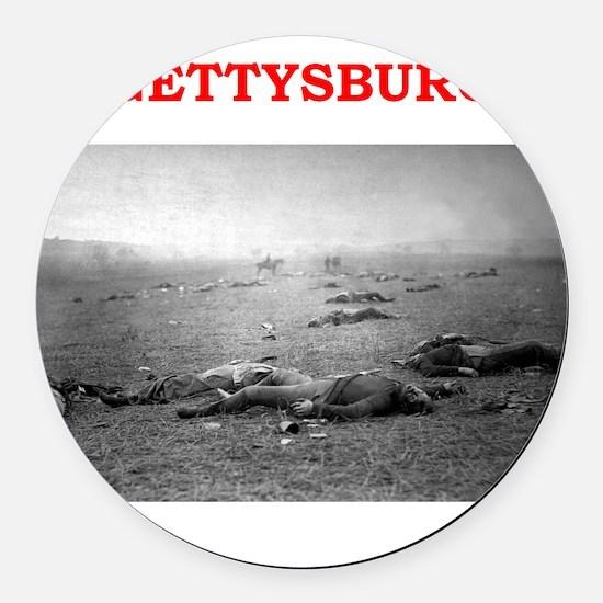 gettysburg Round Car Magnet