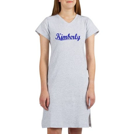 Kimberly, Blue, Aged Women's Nightshirt