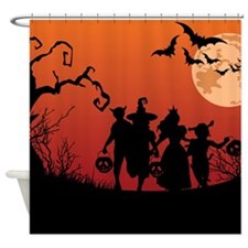 SPOOKY FRIENDS Shower Curtain