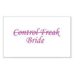 Control Freak Bride Rectangle Decal
