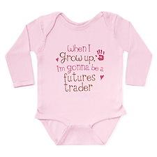 Future Futures Trader Long Sleeve Infant Bodysuit