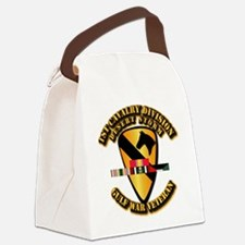 Army - DS - 1st Cav Div Canvas Lunch Bag