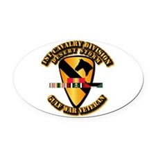 Army - DS - 1st Cav Div Oval Car Magnet