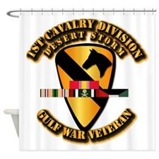Army - DS - 1st Cav Div Shower Curtain