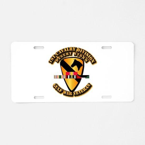 Army - DS - 1st Cav Div Aluminum License Plate