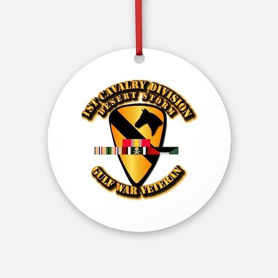 Army - DS - 1st Cav Div Ornament (Round)