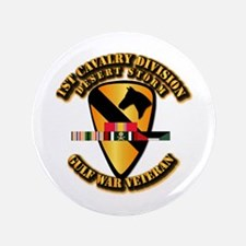 """Army - DS - 1st Cav Div 3.5"""" Button (100 pack)"""