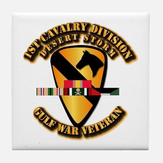 Army - DS - 1st Cav Div Tile Coaster