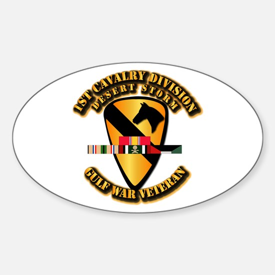 Army - DS - 1st Cav Div Sticker (Oval)