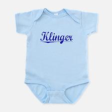 Klinger, Blue, Aged Infant Bodysuit