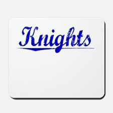 Knights, Blue, Aged Mousepad
