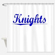 Knights, Blue, Aged Shower Curtain