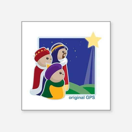 """Original GPS Square Sticker 3"""" x 3"""""""