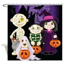 TRICK-OR-TREAT Shower Curtain