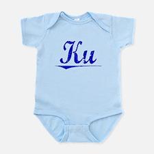 Ku, Blue, Aged Infant Bodysuit
