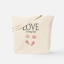 Love Arriving Soon Maternity Design 1 Tote Bag