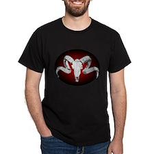 """""""Headbanger"""" Ram Skull Black T-Shirt"""