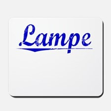 Lampe, Blue, Aged Mousepad