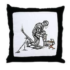 Carrot mortar Throw Pillow