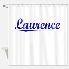 Laurence, Blue, Aged Shower Curtain