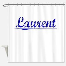 Laurent, Blue, Aged Shower Curtain
