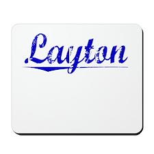 Layton, Blue, Aged Mousepad