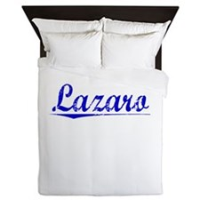 Lazaro, Blue, Aged Queen Duvet