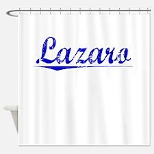 Lazaro, Blue, Aged Shower Curtain