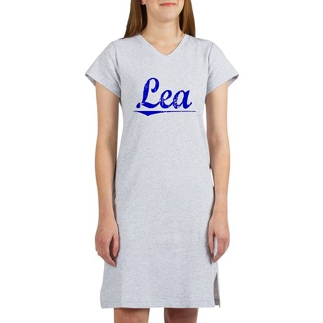 Lea, Blue, Aged Women's Nightshirt