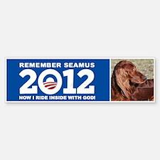 Seamus Inside with God! Bumper Bumper Sticker