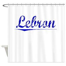 Lebron, Blue, Aged Shower Curtain